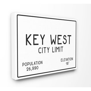 Key West City Limit Stretched Canvas Wall Art