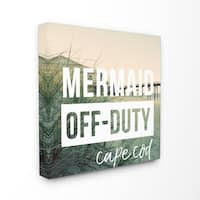 Mermaid Off Duty Cape Cod Stretched Canvas Wall Art