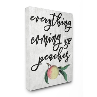 Georgia Coming Up Peaches Icon Stretched Canvas Wall Art