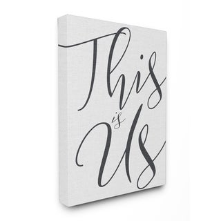 This Is Us Typography Stretched Canvas Wall Art