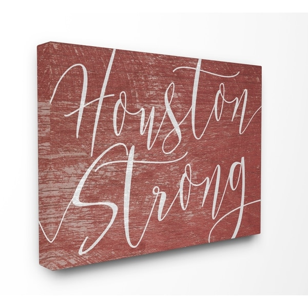 Houston Strong Stretched Canvas Wall Art