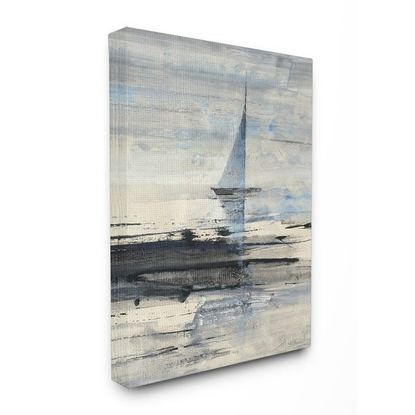 Shop Abstract Sailing Stretched Canvas Wall Art - On Sale - Free ...