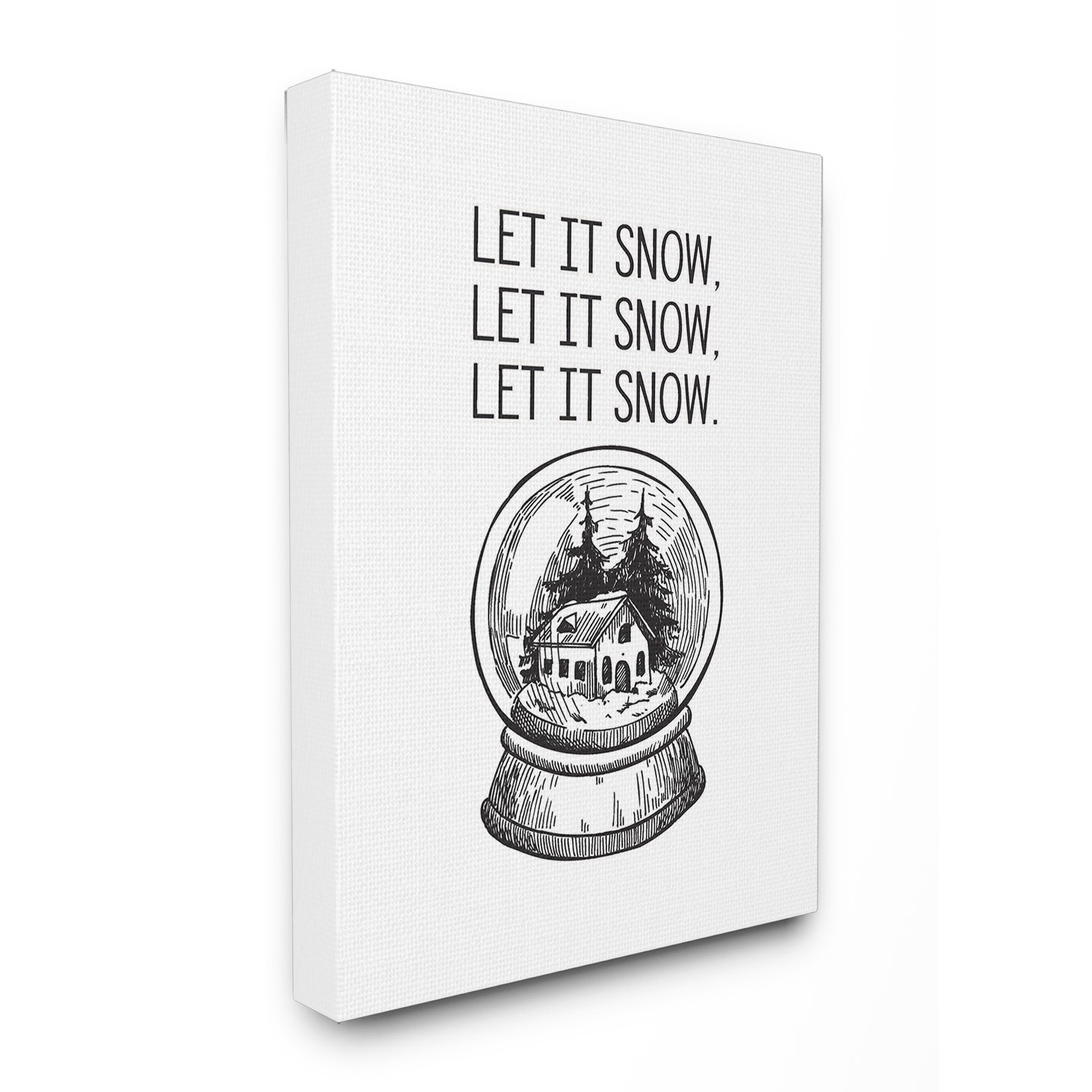 Christmas Let It Snow Globe Stretched Canvas Wall Art (16...