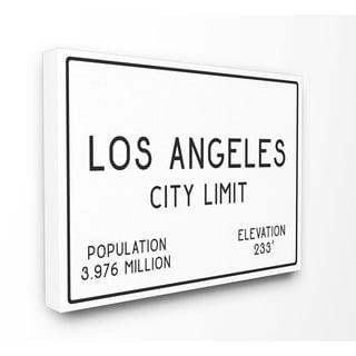 LA City Limit Stretched Canvas Wall Art