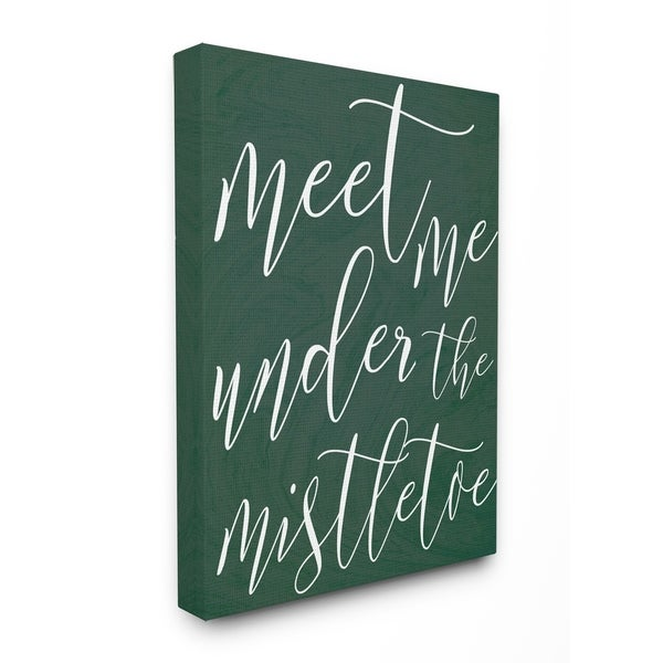 Meet Me Under the Mistletoe Stretched Canvas Wall Art