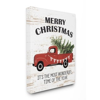 Christmas Most Wonderful Vintage Stretched Canvas Wall Art
