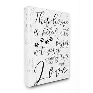 Home Filled With Kisses Dogs Stretched Canvas Wall Art