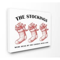 Christmas Stockings Vintage Icons Stretched Canvas Wall Art