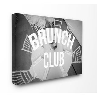 Brunch Club Table Stretched Canvas Wall Art