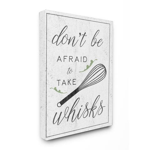 Kitchen Take Whisks Stretched Canvas Wall Art