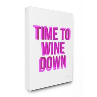 Time To WINE Down Stretched Canvas Wall Art