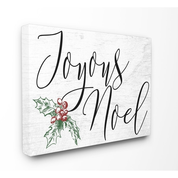 Joyous Noel Christmas Stretched Canvas Wall Art