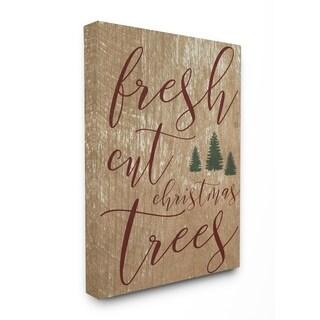 Fresh Cut Christmas Trees Tan Stretched Canvas Wall Art
