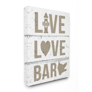 Live Love Bark Stretched Canvas Wall Art