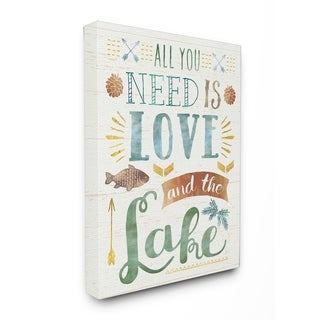 All You Need is Love and The Lake Stretched Canvas Wall Art