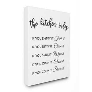 The Kitchen Rules If You Stretched Canvas Wall Art