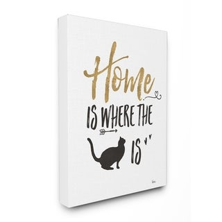 Cat Lover Typography Stretched Canvas Wall Art