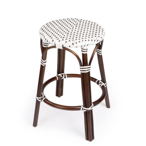 Handmade Tobias Rattan Counter Stool