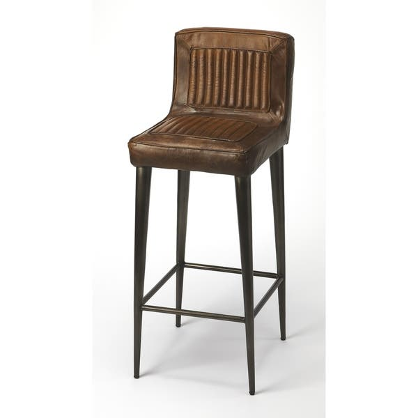 Outstanding Butler Maxwell Leather Bar Stool Andrewgaddart Wooden Chair Designs For Living Room Andrewgaddartcom