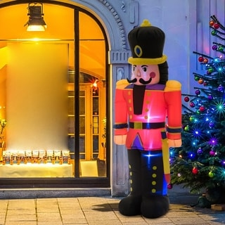 Link to 6' Tall Outdoor Lighted Airblown Inflatable Christmas Lawn Decoration - Nutcracker Toy Soldier Similar Items in Christmas Decorations