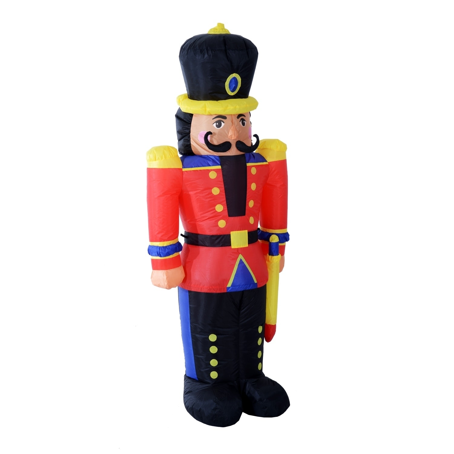 Outdoor Toy Soldier Christmas Decorations.Homcom 6 Ft Tall Outdoor Lighted Airblown Inflatable Christmas Lawn Decoration Nutcracker Toy Soldier