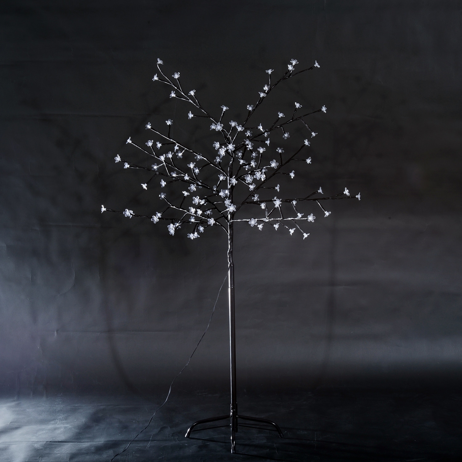 HomCom 6' 4-Color LED Cherry (Red) Blossom Tree - Black (...