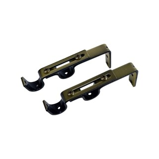 Double Wall Brackets for Rod with Diameter up to 3/4in (Sold in a pair)