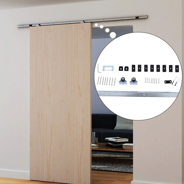 Shop Homcom 6 Interior Sliding Barn Door Kit Hardware Set Silver