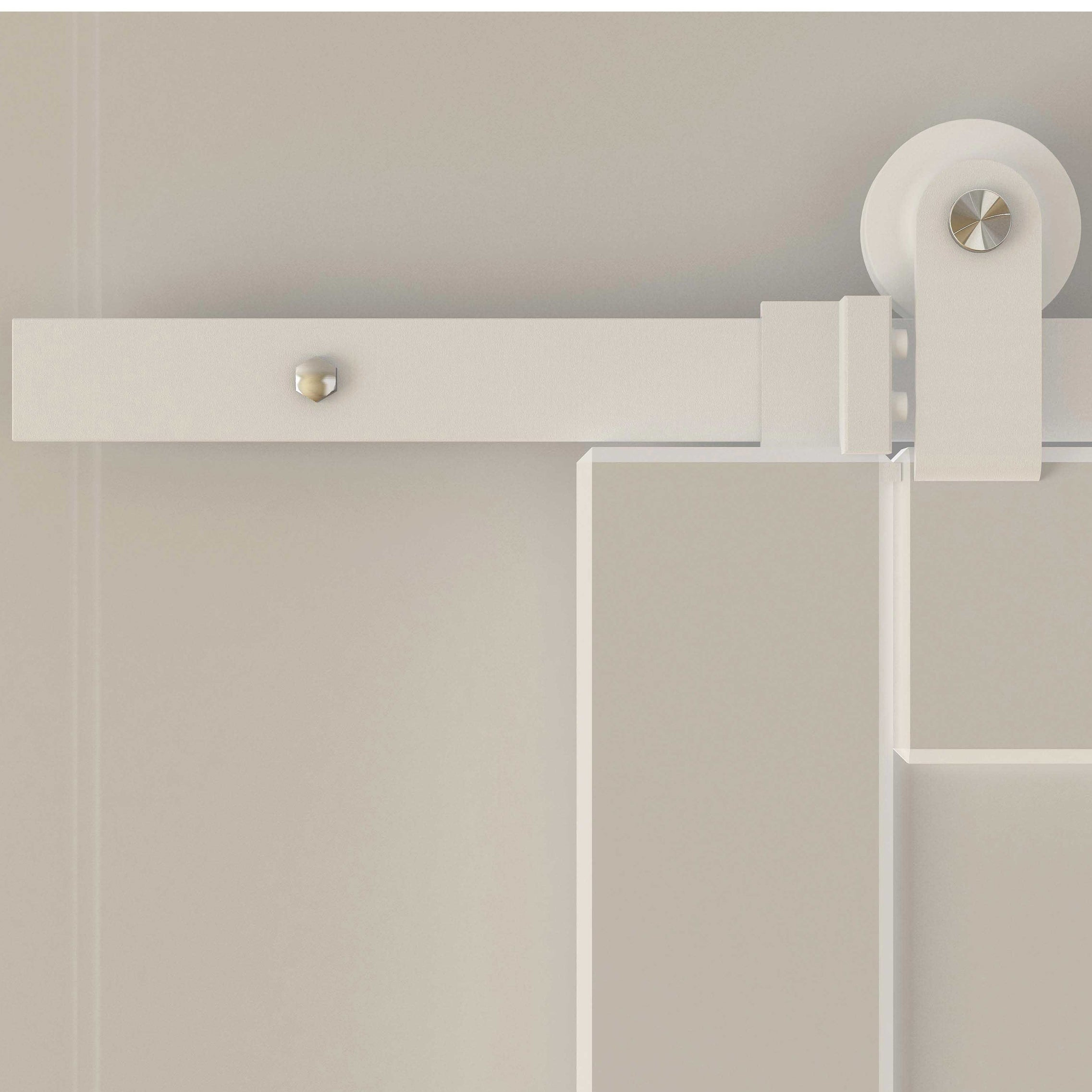 Homcom 6 Sliding Barn Door Hardware Kit White