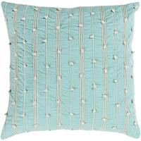 Raya Coastal Striped Mint Throw Pillow Feather Down and Poly Filled 22-inch