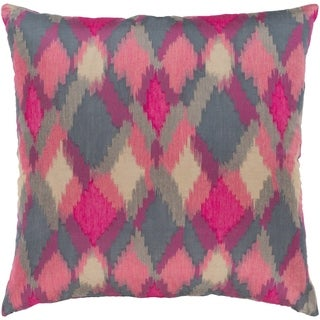 Jourdain Modern Reversible Pink Down or Poly Filled Throw Pillow 18 inch