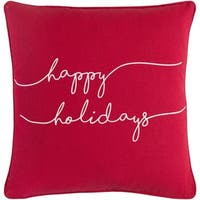 Ferias Holiday Holiday Bright Red Down or Poly Filled Throw Pillow 18 inch