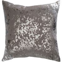 Siorus Metallic Modern Gray Feather Down or Poly Filled Throw Pillow 18-inch