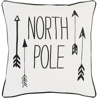 Aquilonem North Pole Holiday WhiteDown or Poly Filled Throw Pillow 18 inch