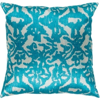 Ivona Traditional Teal Down or Poly Filled Throw Pillow 20 inch