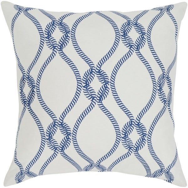 Adjoa Medallion Dark Blue Feather Down or Poly Filled Throw Pillow 20-inch
