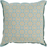 Nadica Geometric Yellow Feather Down or Poly Filled Throw Pillow 22-inch