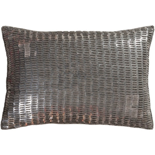 Argentum Metallic Camel Feather Down or Poly Filled Throw Pillow 13 inch x 19 inch