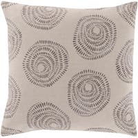 Oleksandra Modern Medallion Gray Feather Down or Poly Filled Throw Pillow 22-inch
