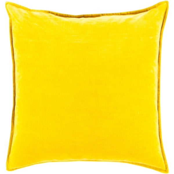"""Vianne Solid Mustard Pillow - (Down/Poly Fill 20"""" x 20"""")"""