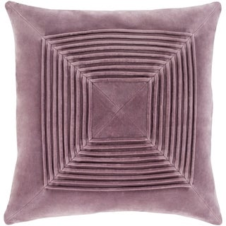 Quadratum Velvet Mauve Feather Down or Poly Filled Throw Pillow 18-inch