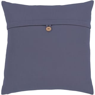 Demetra Traditional Button Navy Feather Down or Poly Filled Throw Pillow 20-inch