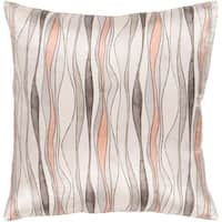 Rama Abstract Reversible Camel Feather Down or Poly Filled Throw Pillow 20-inch