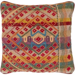 Eliyah Traditional Bright Red Down or Poly Filled Throw Pillow 30 inch