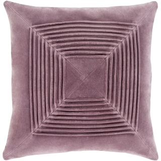 Quadratum Velvet Mauve Feather Down or Poly Filled Throw Pillow 22-inch