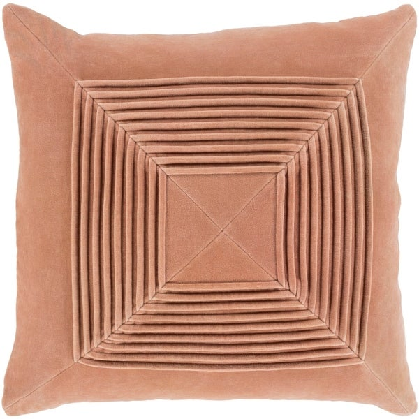 Quadratum Velvet Tan Feather Down or Poly Filled Throw Pillow 20-inch
