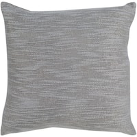 Hughes Traditional Silver Gray Feather Down or Poly Filled Throw Pillow 20-inch