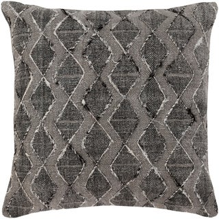 Mahva Traditional Black Feather Down or Poly Filled Throw Pillow 20-inch