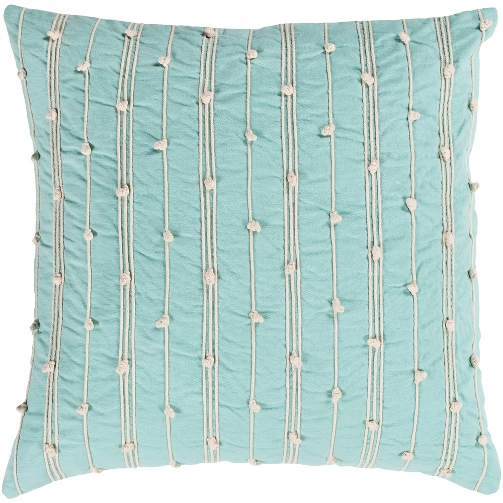 Vintage  Fabric Cushion Pillow Feather Filled Heavy Shabby Chic 40 X 27