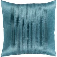 Josune Metallic Teal Feather Down or Poly Filled Throw Pillow 18-inch